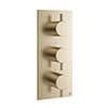Crosswater MPRO Triple Concealed Thermostatic Shower Valve - Brushed Brass - PRO2000RF+ profile small image view 1