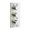 Crosswater - Mike Pro Triple Concealed Thermostatic Shower Valve - Brushed Stainless Steel - PRO2000RV profile small image view 1