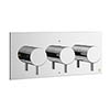 Crosswater - Mike Pro Triple Concealed Thermostatic Shower Valve - Chrome - PRO2001RC profile small image view 1