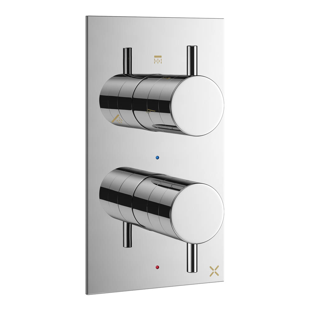 Crosswater MPRO Thermostatic Shower Valve with 3 Way Diverter - Chrome - PRO2500RC