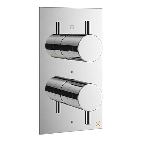 Crosswater - Mike Pro Thermostatic Shower Valve with 3 Way Diverter - Chrome - PRO2500RC