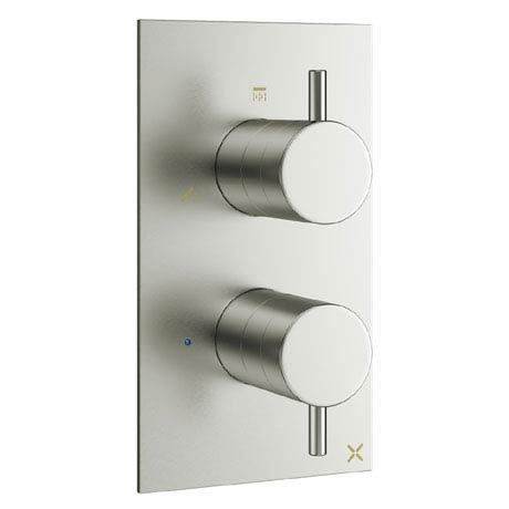 Crosswater - Mike Pro Thermostatic Shower Valve with 3 Way Diverter - Brushed Stainless Steel - PRO2