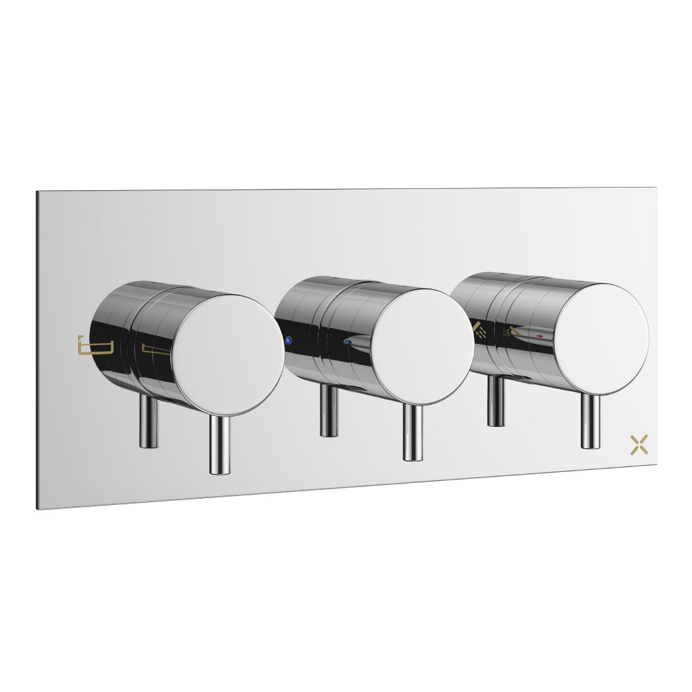 Crosswater - Mike Pro Bath Shower Valve with 3 Way Diverter - Chrome - PRO3001RC Large Image