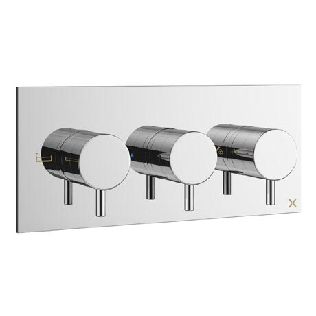 Crosswater - Mike Pro Bath Shower Valve with 3 Way Diverter - Chrome - PRO3001RC