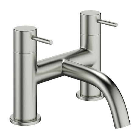 Crosswater - Mike Pro Bath Filler - Brushed Stainless Steel - PRO322DV