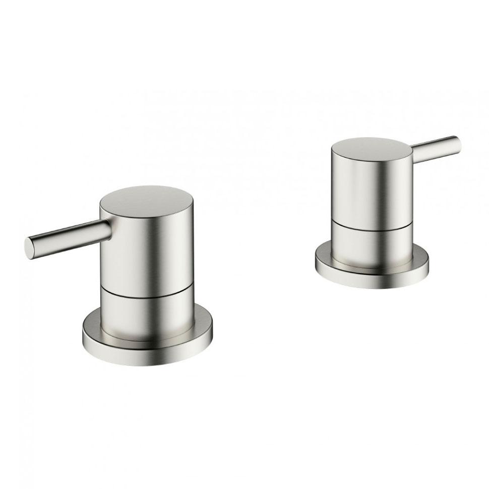 Crosswater - Mike Pro Deck Mounted Panel Valves - Brushed Stainless Steel - PRO350DV Large Image
