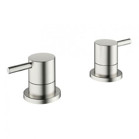 Crosswater - Mike Pro Deck Mounted Panel Valves - Brushed Stainless Steel - PRO350DV