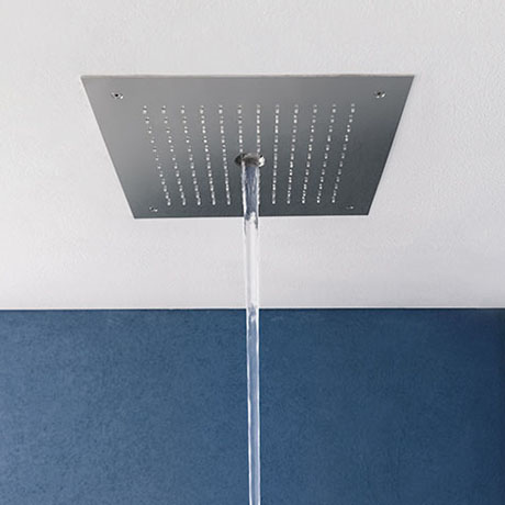 Crosswater MPRO Stream Fixed Ceiling Mounted Square Shower Head - Chrome - PRO380C