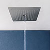 Crosswater MPRO Stream Fixed Ceiling Mounted Square Shower Head - Chrome - PRO380C profile small image view 1