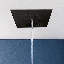 Crosswater MPRO Stream Fixed Ceiling Mounted Square Shower Head - Matt Black - PRO380M