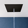 Crosswater MPRO Stream Fixed Ceiling Mounted Square Shower Head - Matt Black - PRO380M profile small image view 1