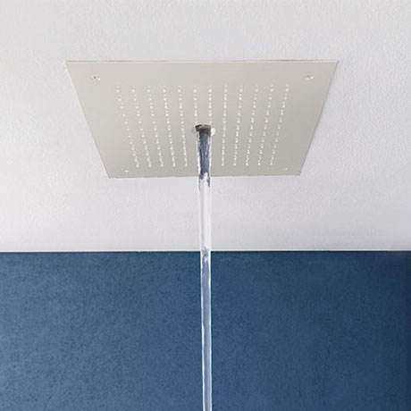 Crosswater MPRO Stream Fixed Ceiling Mounted Square Shower Head - Matt White - PRO380W