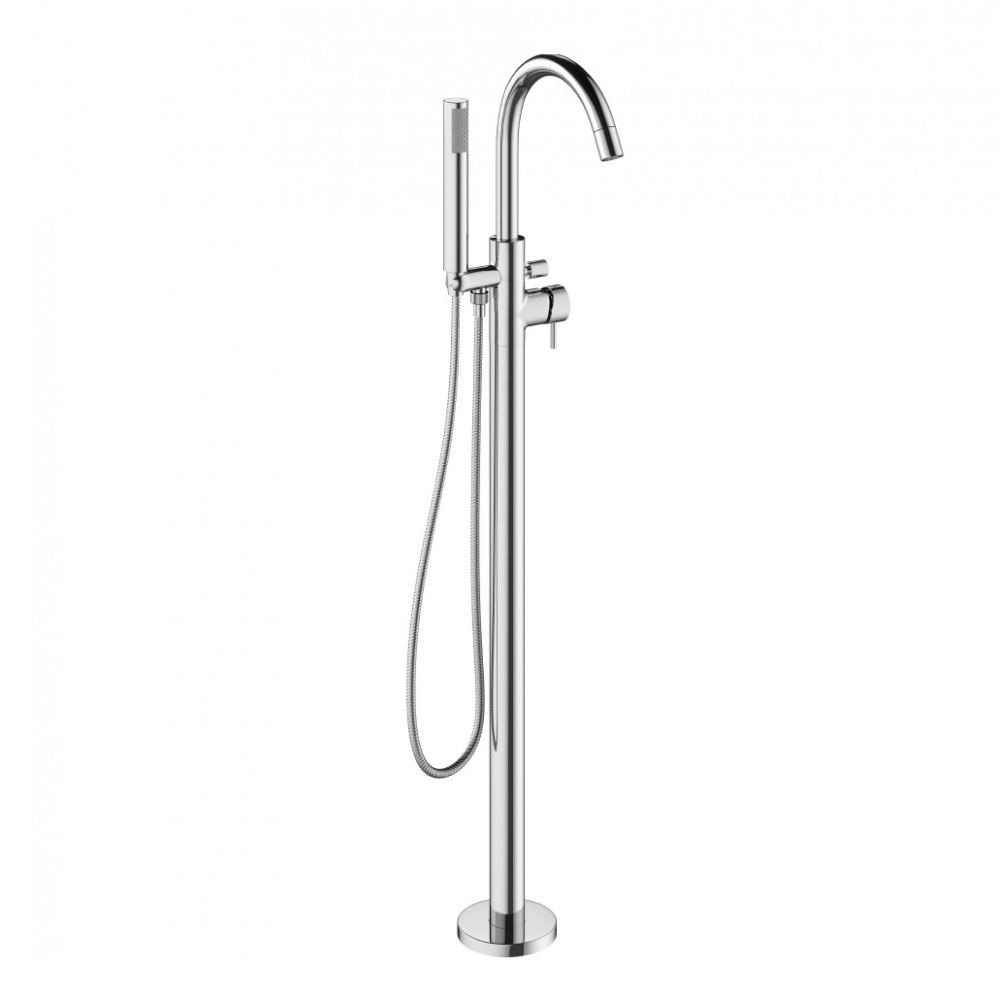 Crosswater - Mike Pro Floor Mounted Freestanding Bath Shower Mixer - Chrome - PRO416FC Large Image