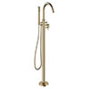 Crosswater MPRO Floor Mounted Freestanding Bath Shower Mixer - Brushed Brass - PRO416FF profile small image view 1