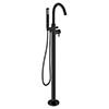 Crosswater MPRO Floor Mounted Freestanding Bath Shower Mixer - Matt Black - PRO416FM profile small image view 1