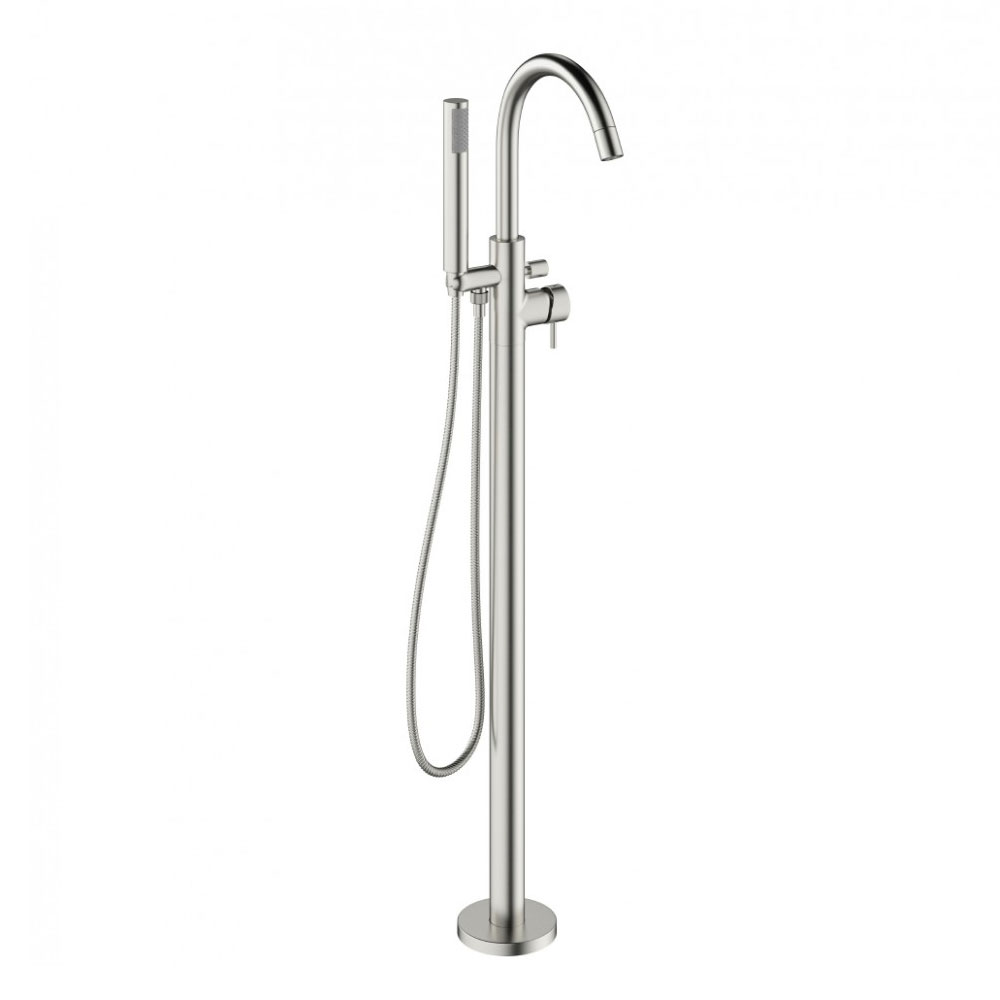 Crosswater MPRO Floor Mounted Freestanding Bath Shower Mixer - Brushed Stainless Steel - PRO416FV