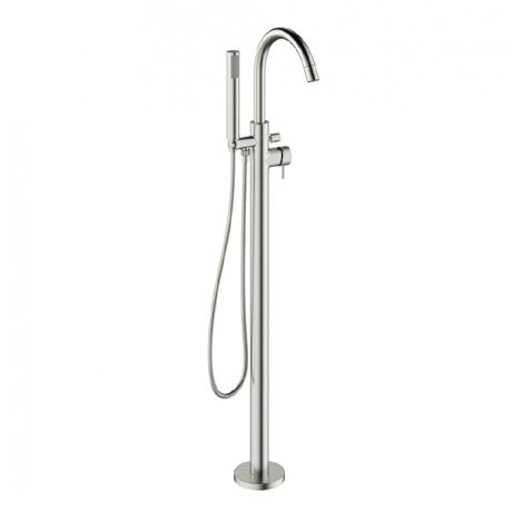 Crosswater - Mike Pro Floor Mounted Freestanding Bath Shower Mixer - Brushed Stainless Steel - PRO416FV