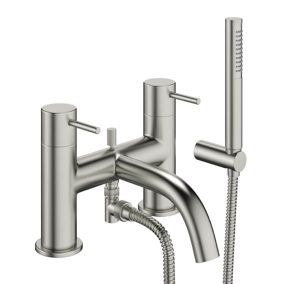 Crosswater - Mike Pro Bath Shower Mixer with Kit - Brushed Stainless Steel - PRO422DV Large Image