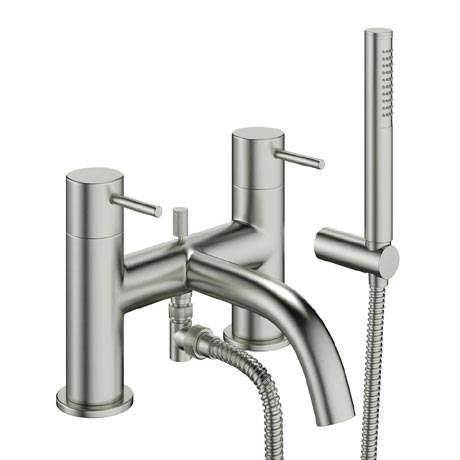 Crosswater - Mike Pro Bath Shower Mixer with Kit - Brushed Stainless Steel - PRO422DV