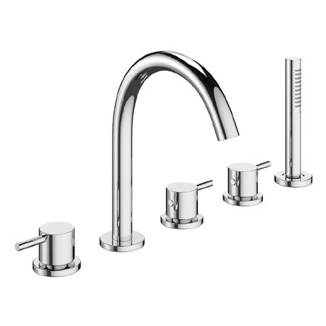 Crosswater - Mike Pro 5 Tap Hole Bath Shower Mixer with Kit - Chrome - PRO450DC