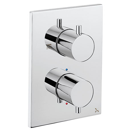 Crosswater - Chrome MPRO Crossbox 1 Outlet Trim & Levers Finishing Kit