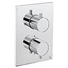 Crosswater - Chrome MPRO Crossbox 1 Outlet Trim & Levers Finishing Kit profile small image view 1