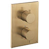Crosswater - Brushed Brass MPRO Crossbox 1 Outlet Trim & Levers Finishing Kit profile small image view 1