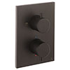 Crosswater - Matt Black MPRO Crossbox 1 Outlet Trim & Levers Finishing Kit profile small image view 1