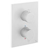 Crosswater - Matt White MPRO Crossbox 2 Outlet Multi-flow Trim & Levers Finishing Kit profile small image view 1