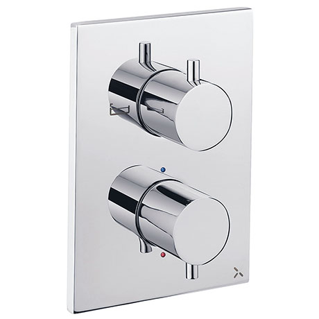 Crosswater - Chrome MPRO Crossbox 2 Outlet (Bath/Shower) Trim & Levers Finishing Kit