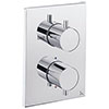Crosswater - Chrome MPRO Crossbox 2 Outlet (Bath/Shower Icons) Trim & Levers Finishing Kit profile small image view 1