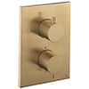 Crosswater - Brushed Brass MPRO Crossbox 2 Outlet (Bath/Shower Icons) Trim & Levers Finishing Kit profile small image view 1