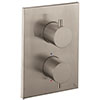 Crosswater - Stainless Steel Effect MPRO Crossbox 2 Outlet (Bath/Shower Icons) Trim & Levers profile small image view 1