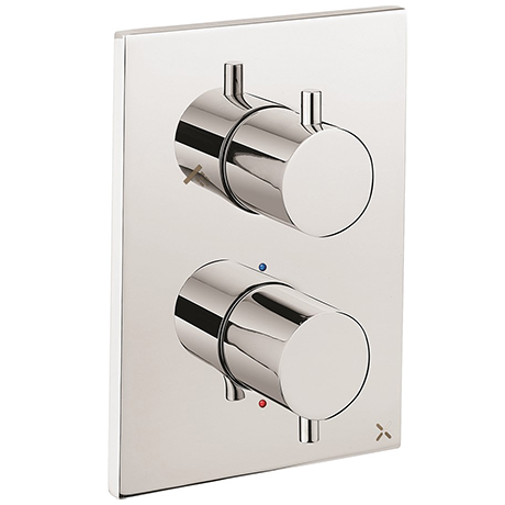 Crosswater - Chrome MPRO Crossbox 2 Outlet (Fixed Head/Handset Icons) Trim & Levers Finishing Kit