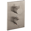 Crosswater - Stainless Steel Effect MPRO Crossbox 2 Outlet (Fixed Head/Handset Icons) Trim & Levers Finishing Kit profile small image view 1