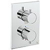 Crosswater - Chrome MPRO Crossbox 3 Outlet Trim & Levers Finishing Kit profile small image view 1
