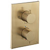 Crosswater - Brushed Brass MPRO Crossbox 3 Outlet Trim & Levers Finishing Kit profile small image view 1
