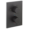 Crosswater - Matt Black MPRO Crossbox 3 Outlet Trim & Levers Finishing Kit profile small image view 1
