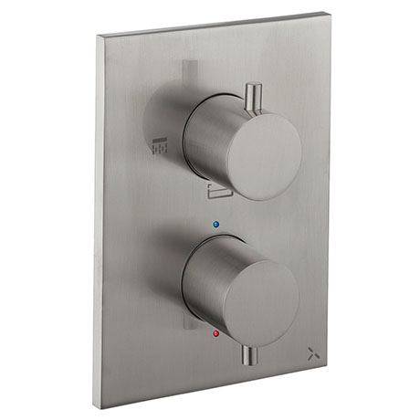 Crosswater - Stainless Steel Effect MPRO Crossbox 3 Outlet Trim & Levers Finishing Kit