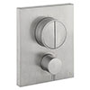 Crosswater MPRO Crossbox Push Brushed Stainless Steel Effect 2 Outlet Trim Set profile small image view 1
