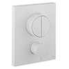 Crosswater MPRO Crossbox Push Matt White 2 Outlet Trim Set profile small image view 1