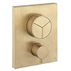 Crosswater MPRO Crossbox Push Brushed Brass 3 Outlet Trim Set profile small image view 1