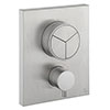 Crosswater MPRO Crossbox Push Brushed Stainless Steel Effect 3 Outlet Trim Set profile small image view 1