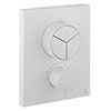 Crosswater MPRO Crossbox Push Matt White 3 Outlet Trim Set profile small image view 1