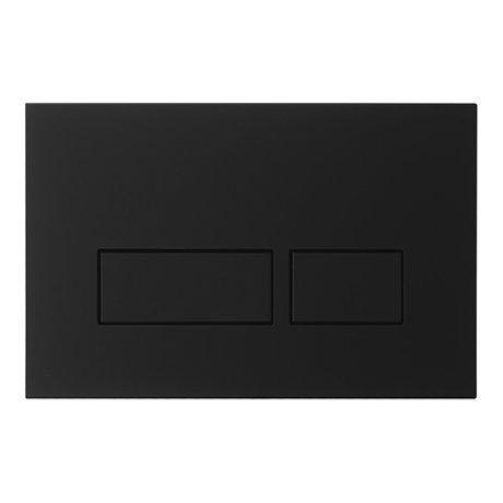 Crosswater MPRO Matt Black Dual Flush Plate - PROFLUSHB