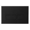 Crosswater MPRO Matt Black Dual Flush Plate - PROFLUSHB profile small image view 1