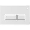 Crosswater MPRO Matt White Dual Flush Plate - PROFLUSHMW profile small image view 1