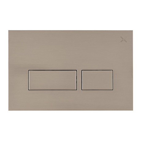 Crosswater MPRO Stainless Steel Effect Dual Flush Plate - PROFLUSHV+