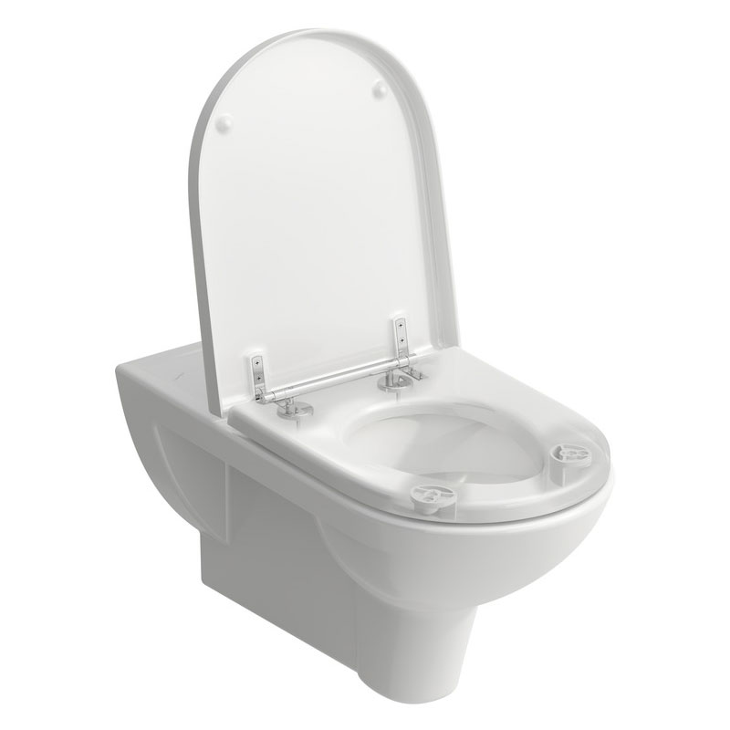 Laufen - Pro Liberty Wall Hung Pan with Antibacterial Seat (Extended Projection) - PROWC11 Profile Large Image