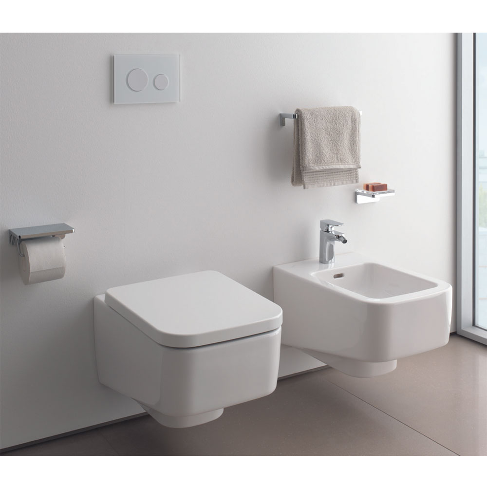 Laufen - Pro S Wall Hung Pan with Toilet Seat - PROWC7 Profile Large Image